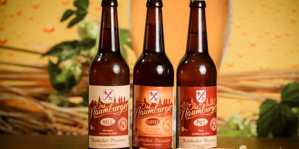 Naumburger Unikat, Das Naumburger Bier aus Ratskellerbrauerei v.l. Daniel Hinze, Hardy Hanschke