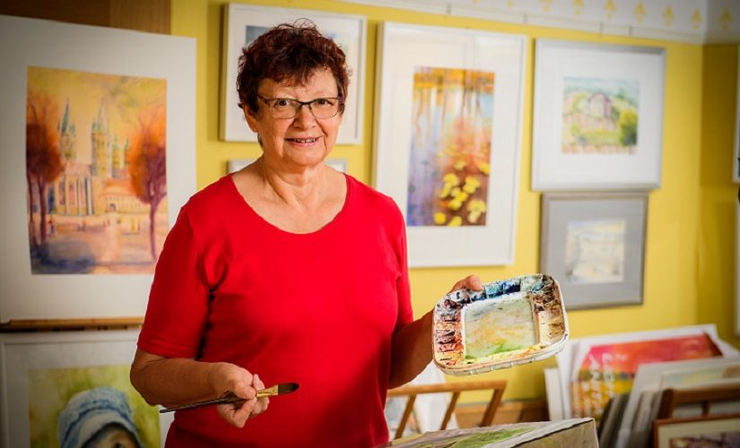 Naumburger Unikat, Malerin Anita Wolff malt Naumburger Motive
